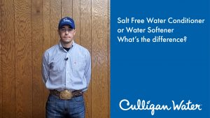 What are the differences between a salt free conditioner and water softener