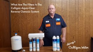 What are the different filters in the Culligan Aqua-Cleer Reverse Osmosis System>