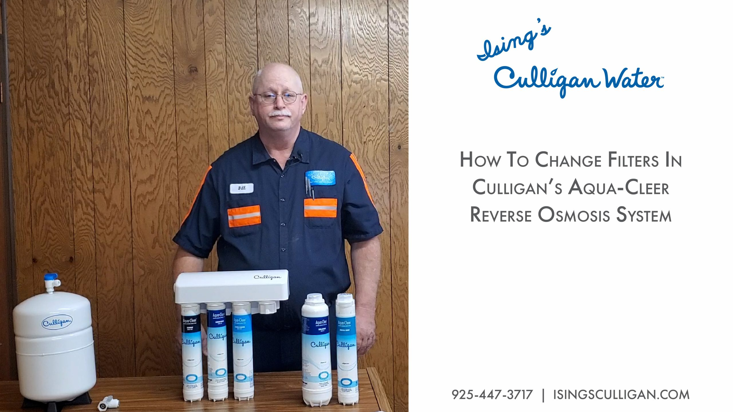 How to change filters in Culligan's Aqua Cleer Reverse Osmosis System