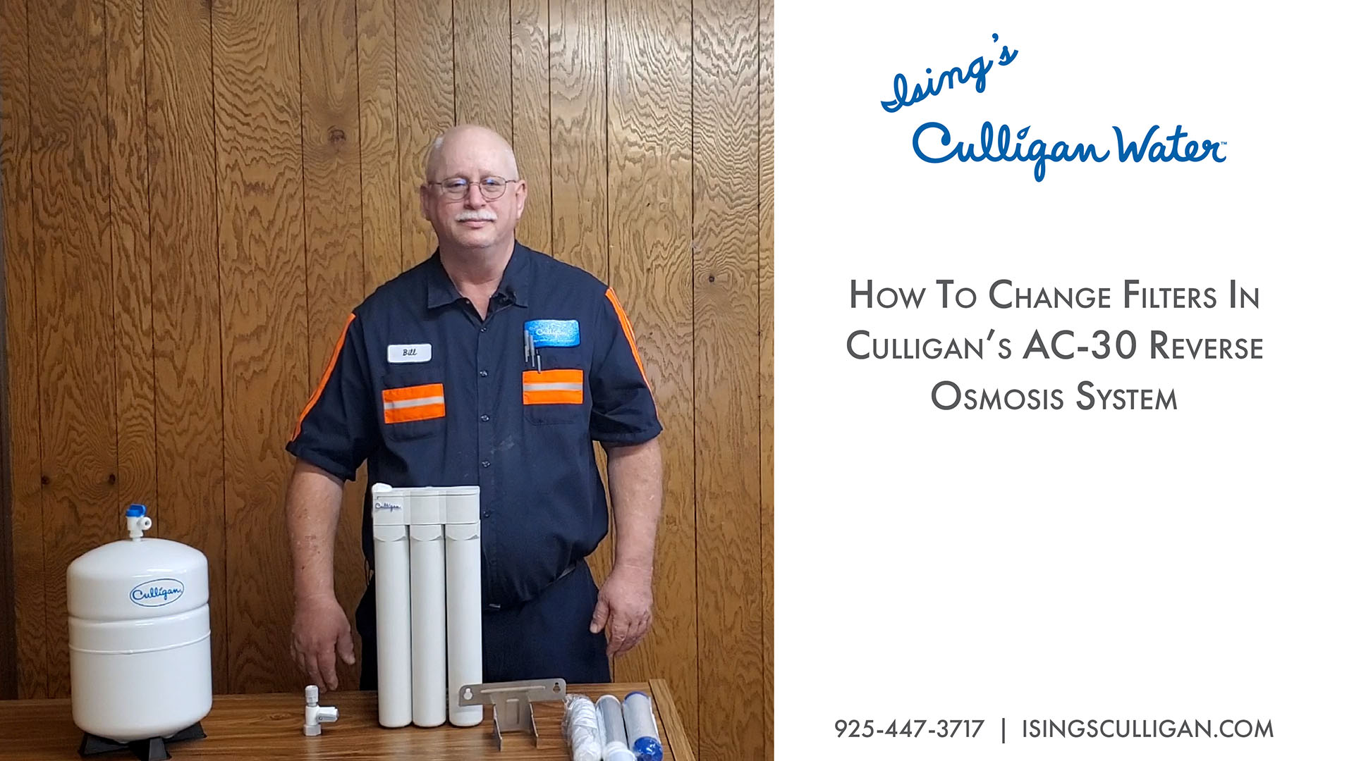 How to change filters in AC-30 Reverse Osmosis System